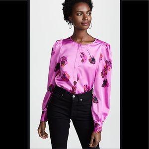 Joie Antonela Purple Floral Blouse